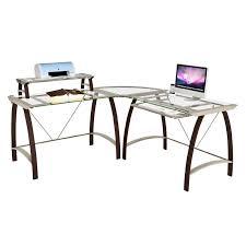 Glass Computer Corner Desk Glass Corner Desk Eulanguages Net