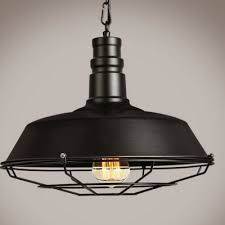 Metal Shade Pendant Light Industrial Pendant Light In Barn Style With 14 17 W Metal Shade