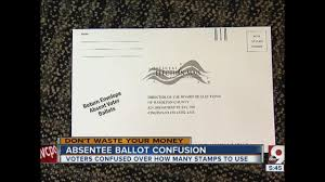 Which Side Of The Envelope Does The Stamp Go On Dumb Confusing Postage For Absentee Ballots Wcpo Cincinnati Oh