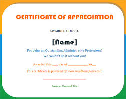 student certificate templates for word certificate of appreciation