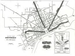 Cleveland Rta Map Map Of 1954 Detroit Streetcar System Detroit