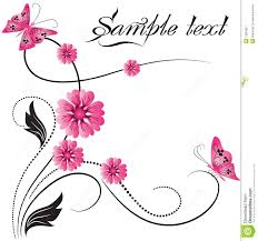 flower ornament with butterfly stock vector image 13663821