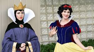 the evil queen and snow white meet us at disney u0027s hollywood