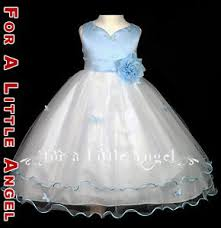 sky blue flower dress wedding party holiday dress butterfly 2