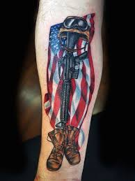 beautiful military tattoos that show freedom and bravery