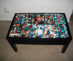 dc comic coffee table