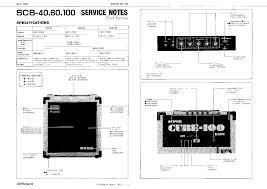 roland super cube bass scb 40 60 100 service manual service manual