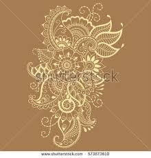 henna flower template mehndi style stock vector 573873610