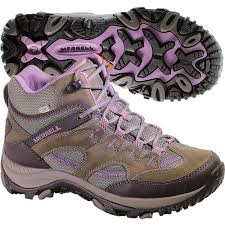 womens hiking boots canada these waterproof leather hiking boots by merrell bring stylish