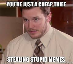 Stupid Memes - you re just a cheap thief stealing stupid memes andy dwyer too