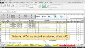 Preventive Maintenance Spreadsheet Features Maintenance Planning And Scheduling Excel Template Youtube
