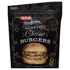h u2011e u2011b fully cooked cheese burgers u2011 shop burgers at heb
