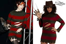 Halloween Freddy Krueger Costume Ash Costello Freddy Krueger Sweater Dress Steal Style