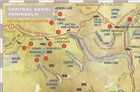 Alaska Route Map by Central Kenai Peninsula Trails Map