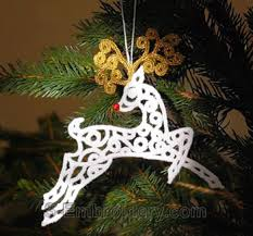 10568 free standing lace reindeer ornament
