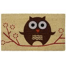 Rubber Cal Wipe Your Paws Rubber Cal Inc Hooo U0027s There Owl Doormat U0026 Reviews Wayfair