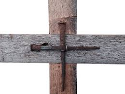 wooden wall crosses wall cross reclaimed wood with rustic nails for home or church