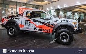 baja truck racing detroit mi usa january 12 2017 a 2017 ford f 150 baja raptor
