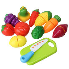 multicolor kitchen food pretend play toy cutting fruit vegetable