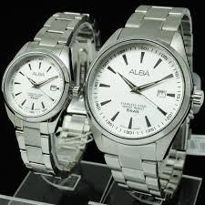 jual harga sepasang jam tangan alba original andre