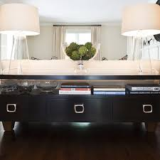 sofa console table long console table behind sofa design ideas