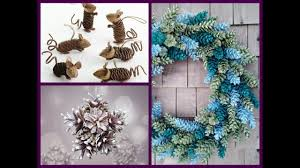pine cone crafts ideas diy cone decor ideas youtube
