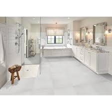 kitchen cabinets with white tile floors msi white 24 in x 24 in matte porcelain floor and wall