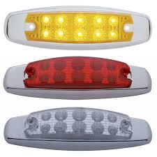 led side marker lights for trucks rectangular flush mount led lights big rig chrome shop semi truck