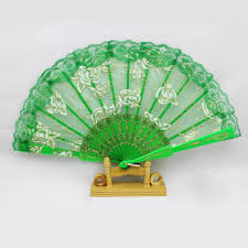 held folding fans chinece lace held fans tulle folding fans wedding birthday