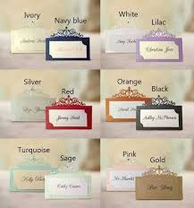 50pcs free shipping classical hollow out place card wedding name