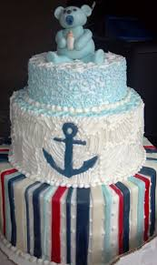Anchor Decorations For Baby Shower Baby Shower Anchor Cake Cakecentral Com