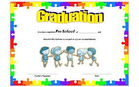 preschool graduation certificate preschool graduation certificate templates best 10 templates