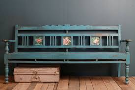 Antique Woodworking Benches Sale by Bench Top Sale Restored Antique Indian Distressed Blue Indoor