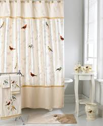 Shower Curtains With Matching Accessories Avanti Bath Accessories Gilded Birds Shower Curtain Bathroom