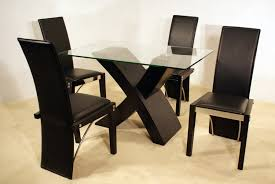 furniture modern black x base dinette table design for small