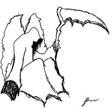 grim reaper sketch by vilegraphix on deviantart