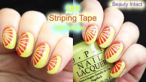 diy easy striping tape nail art tutorial beauty intact youtube