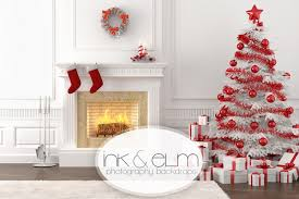 christmas backdrops photography backdrop christmas fireplace with tree