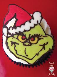 bird on a cake grinch christmas cupcake toppers