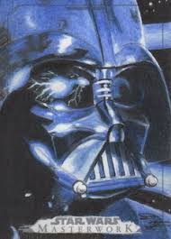 star wars masterwork darth vader sketch art card by