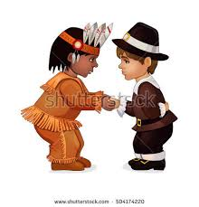 Indian Thanksgiving Pilgrims And Indians Stock Images Royalty Free Images U0026 Vectors