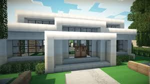 minecraft pe modern house plan