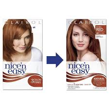 clairol nice n easy natural light auburn clairol nice n easy permanent hair colour dye natural light