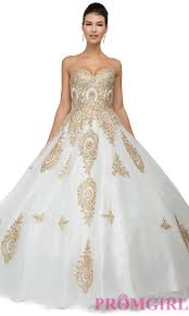 gold quince dresses quinceanera dresses white and gold dresses