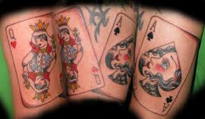 latest queen of hearts tattoo flash in 2017 real photo pictures