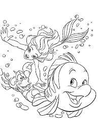 ariel the little mermaid coloring pages for girls to print for