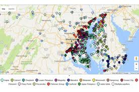 maryland map by city interactive map of groundwater levels in maryland american