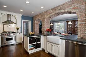 Interior Stone Arches Incorporating Exposed Bricks In Stylish Designs Around The House