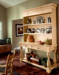 this natural maple hutch gives any casual dining area a fun