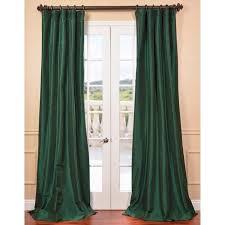 Teal Taffeta Curtains Emerald Green Faux Silk Taffeta Curtain Panel Lovely Green Silk